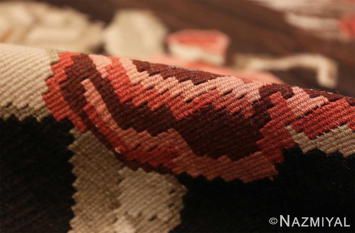 Pile floral vintage Turkish Kilim rug 50476 by Nazmiyal