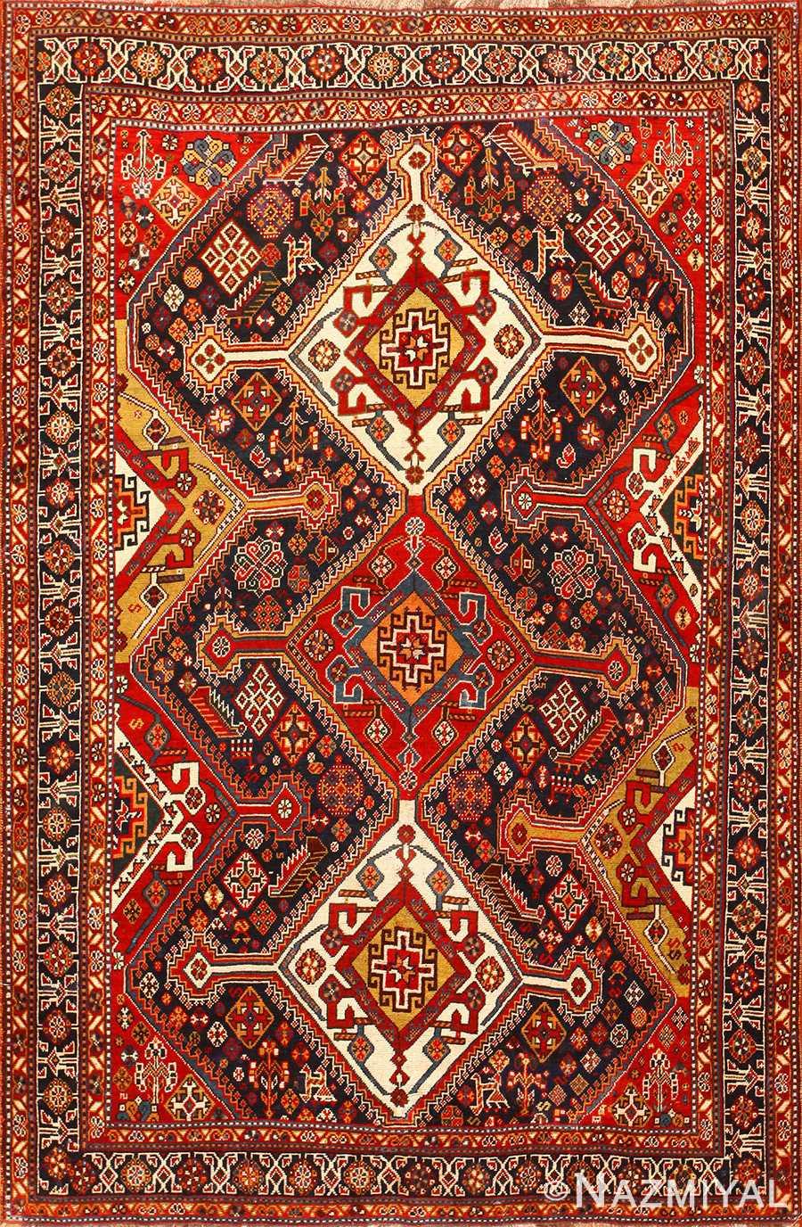 Tribal Antique Persian Qashqai Rug 50468 By Nazmiyal