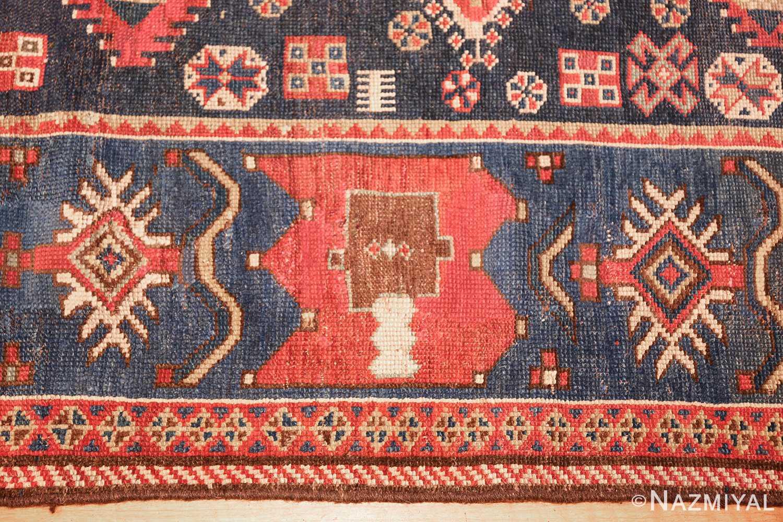 small antique caucasian kazak rug 48719 border Nazmiyal
