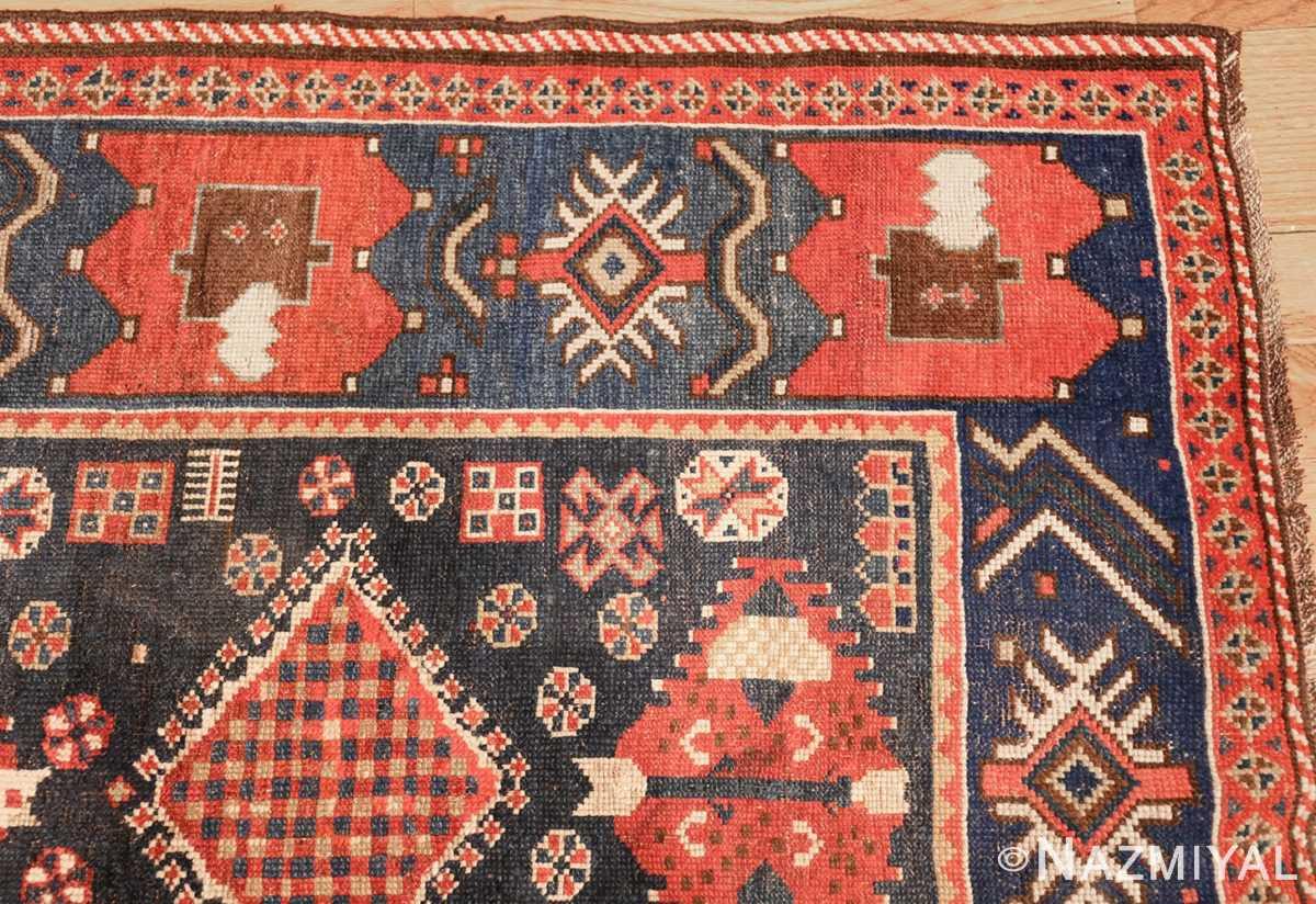 small antique caucasian kazak rug 48719 corner Nazmiyal