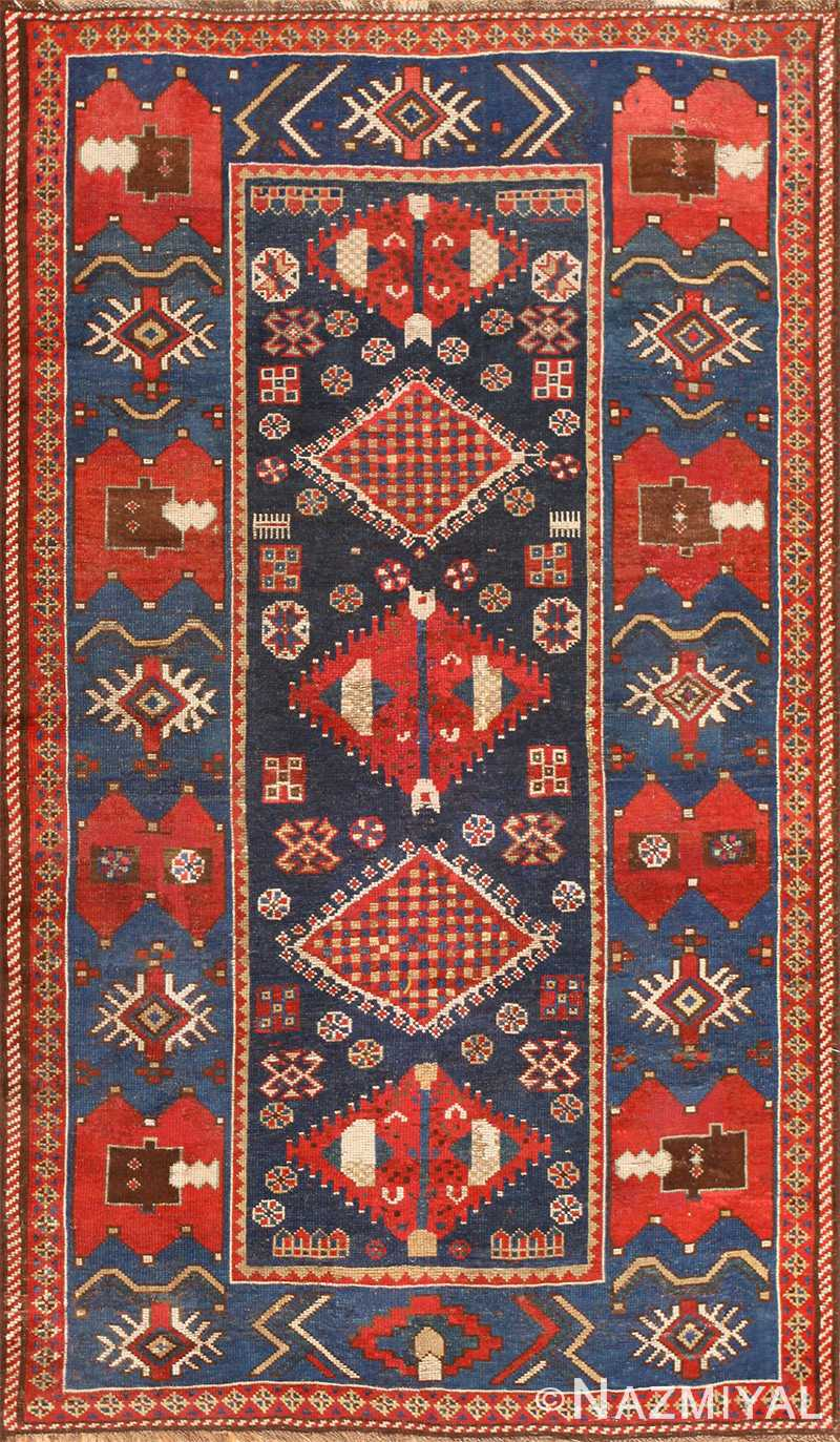 Small Antique Caucasian Kazak Rug 48719 Nazmiyal