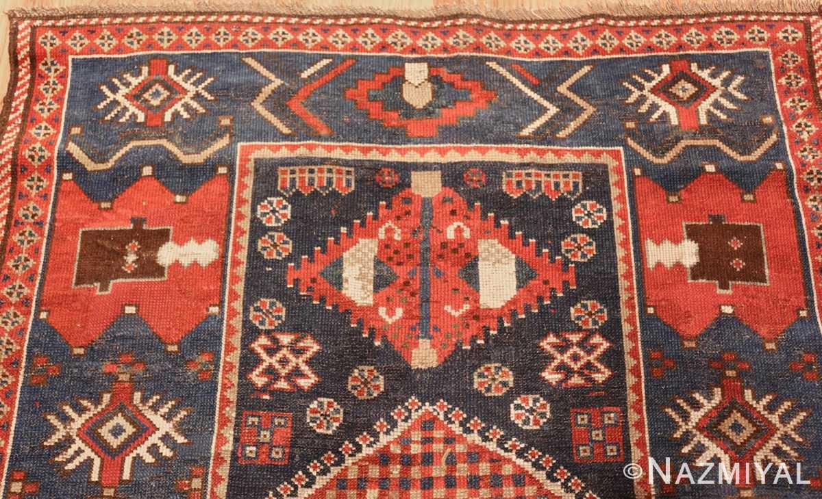 small antique caucasian kazak rug 48719 top Nazmiyal