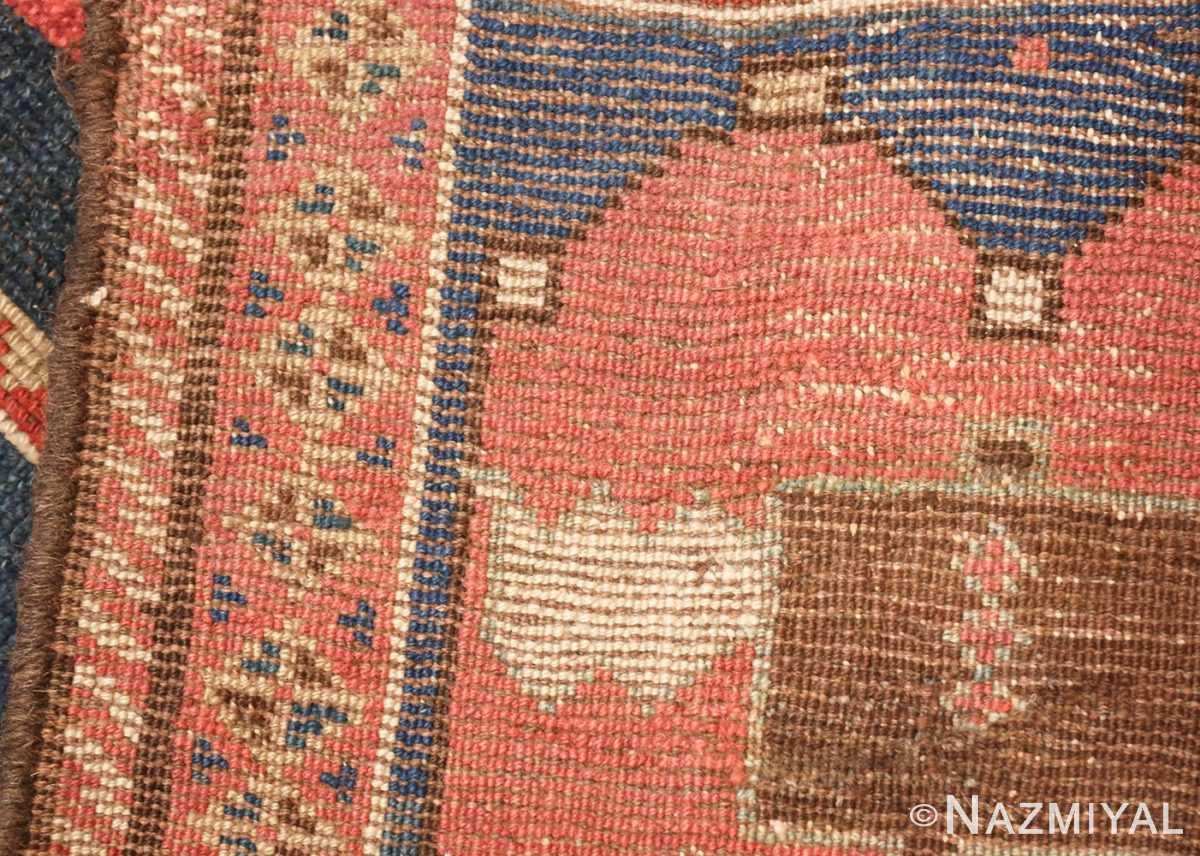 small antique caucasian kazak rug 48719 weave Nazmiyal