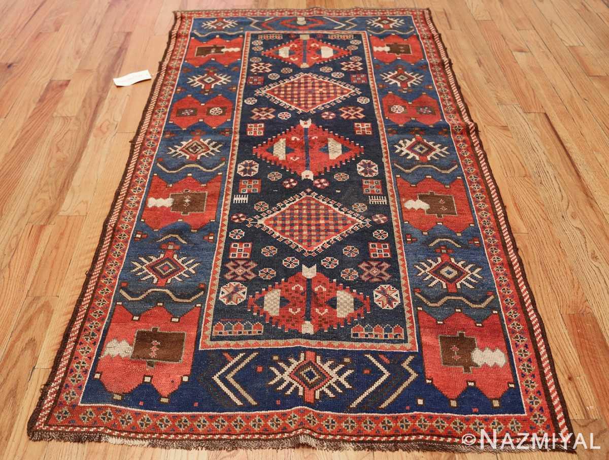 small antique caucasian kazak rug 48719 whole Nazmiyal