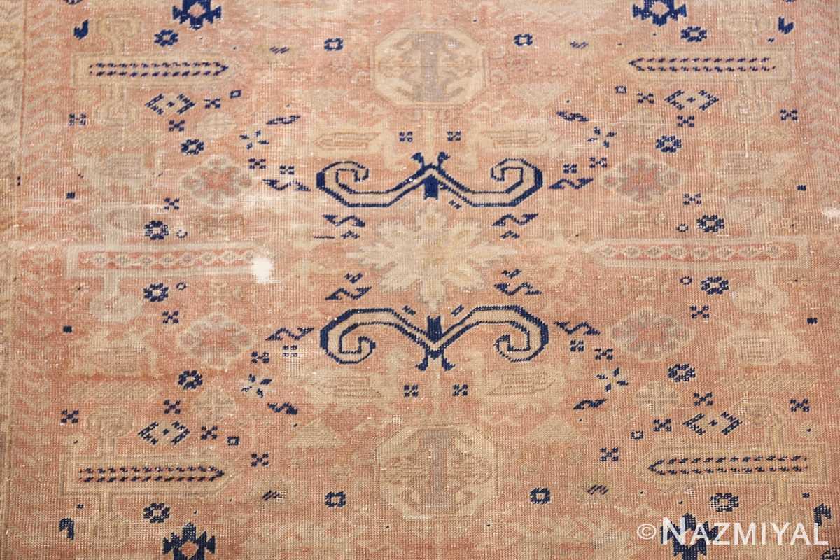 small decorative vintage caucasian carpet 48091 flower Nazmiyal
