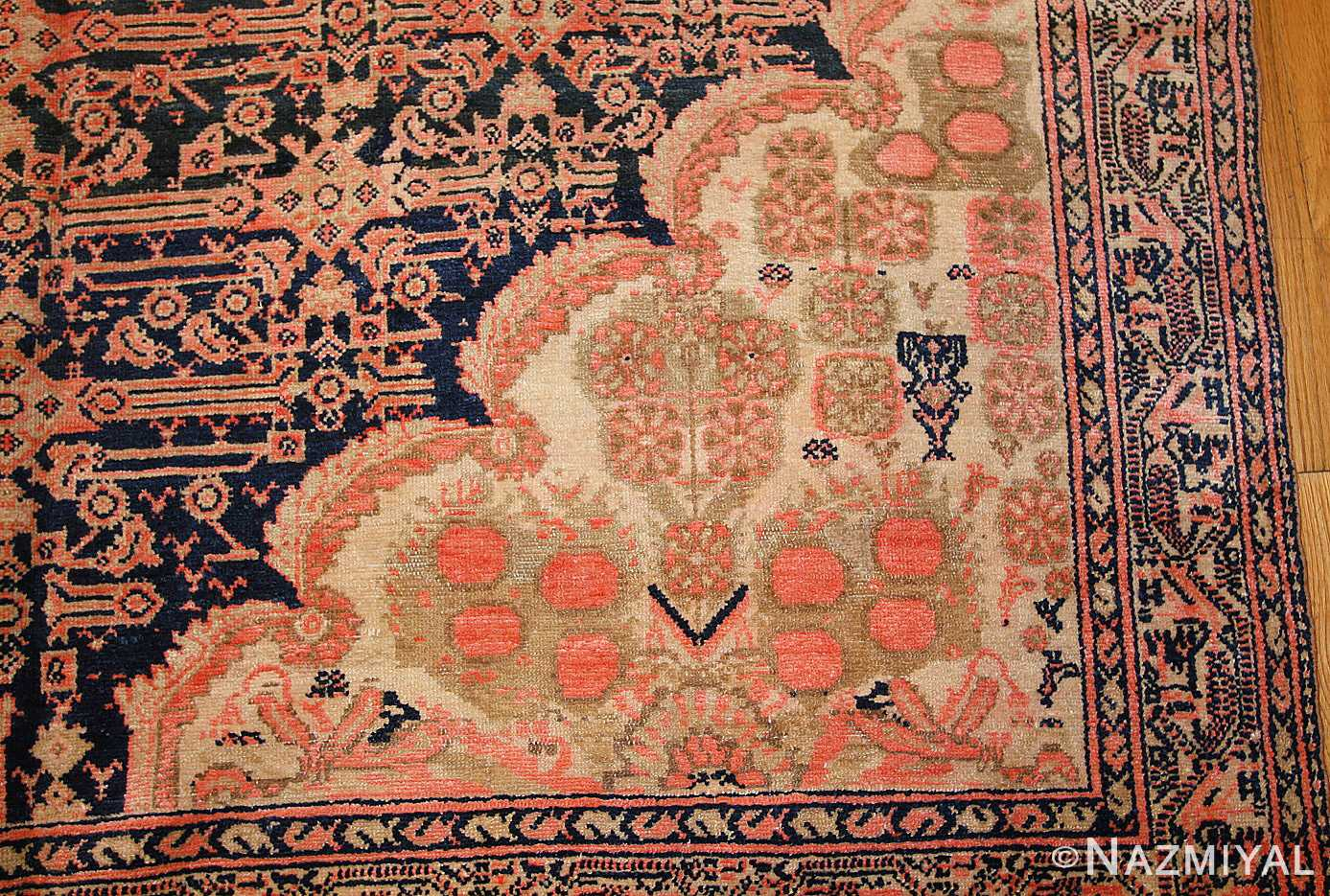 star david antique persian malayer rug 50467 details Nazmiyal