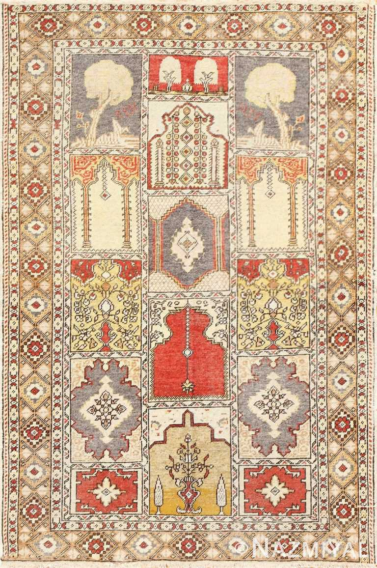 Tree and Candle Antique Turkish Ghiordes Rug 50501 Nazmiyal