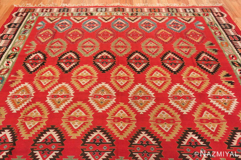Vibrant and Fine Vintage Sarkoy Turkish Kilim Rug 50443 Colorful Top Nazmiyal