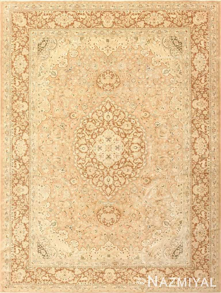 Vintage Alabaster Persian Tabriz Rug 50444 Nazmiyal