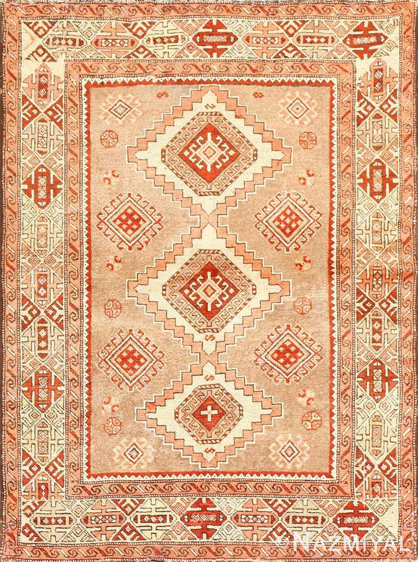 Vintage Caucasian Kazak Rug 50519 Detail/Large View