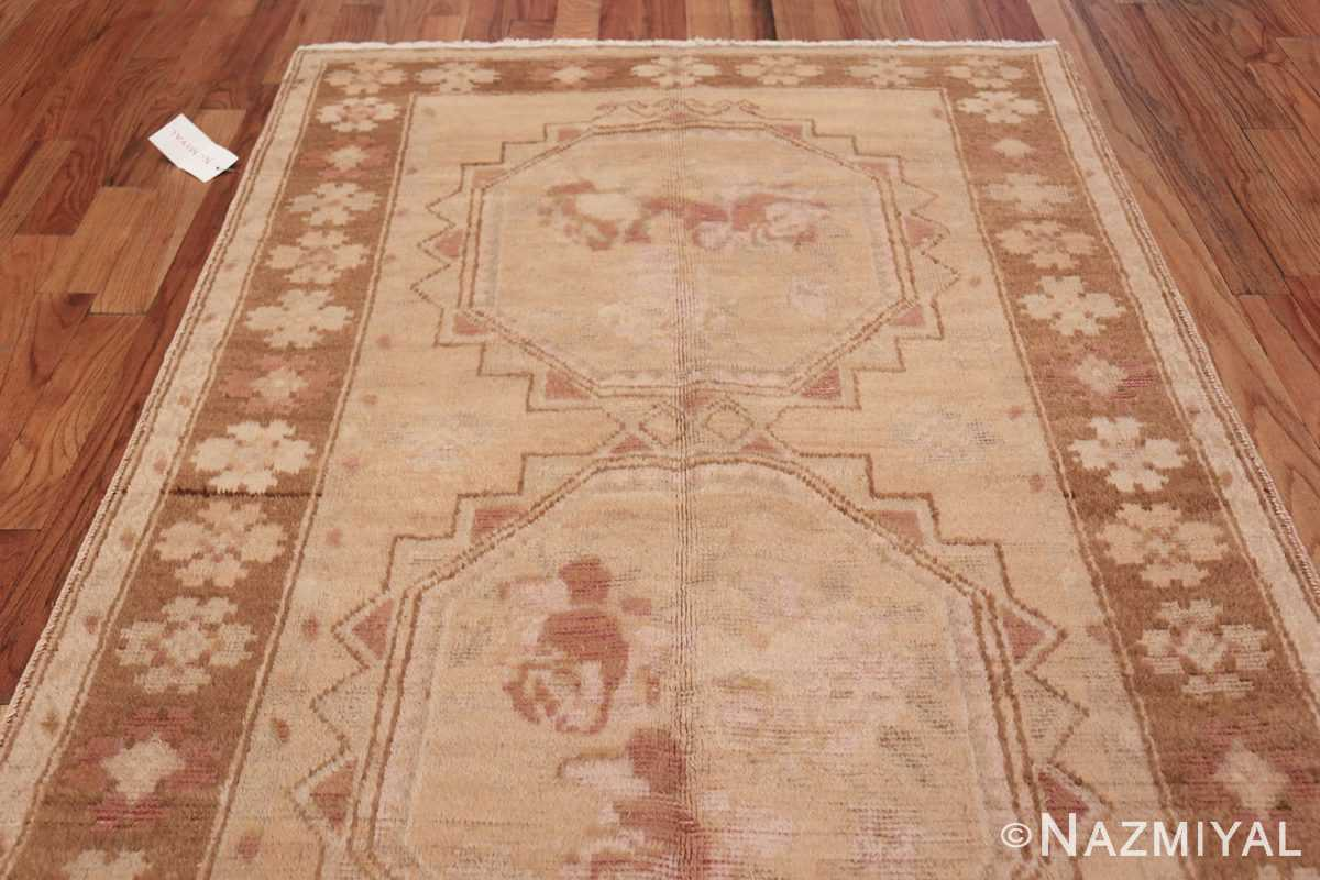 Vintage East Turkestan Khotan Rug 50497 Top Design