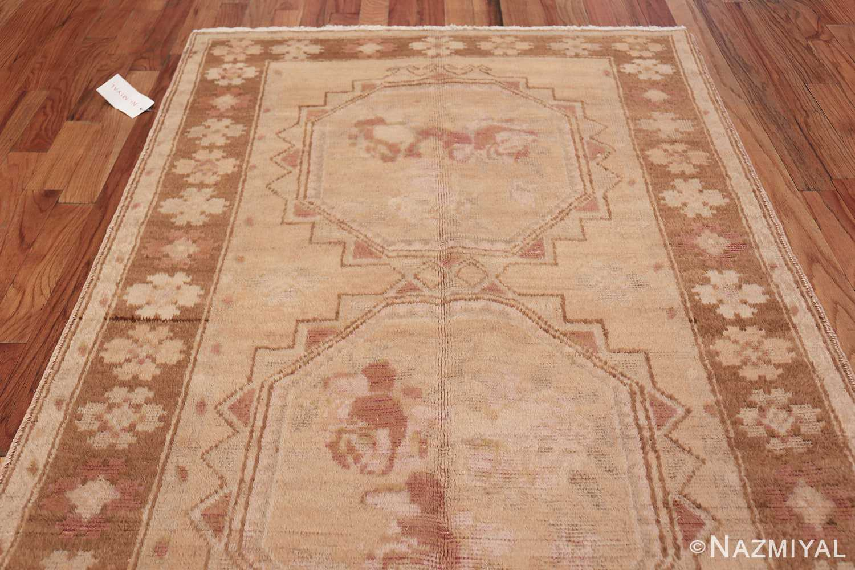 Vintage East Turkestan Khotan Rug 50497 Top Design