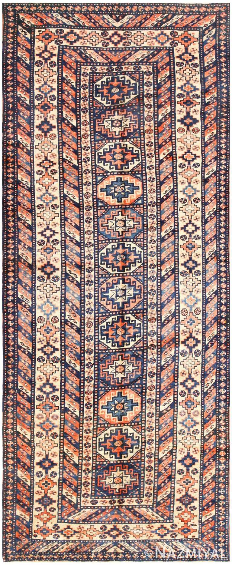 Vintage Tribal Caucasian Rug 50479 Nazmiyal
