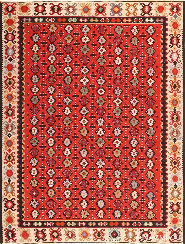 Vintage Turkish Kilim Rug 50515 Detail/Large View