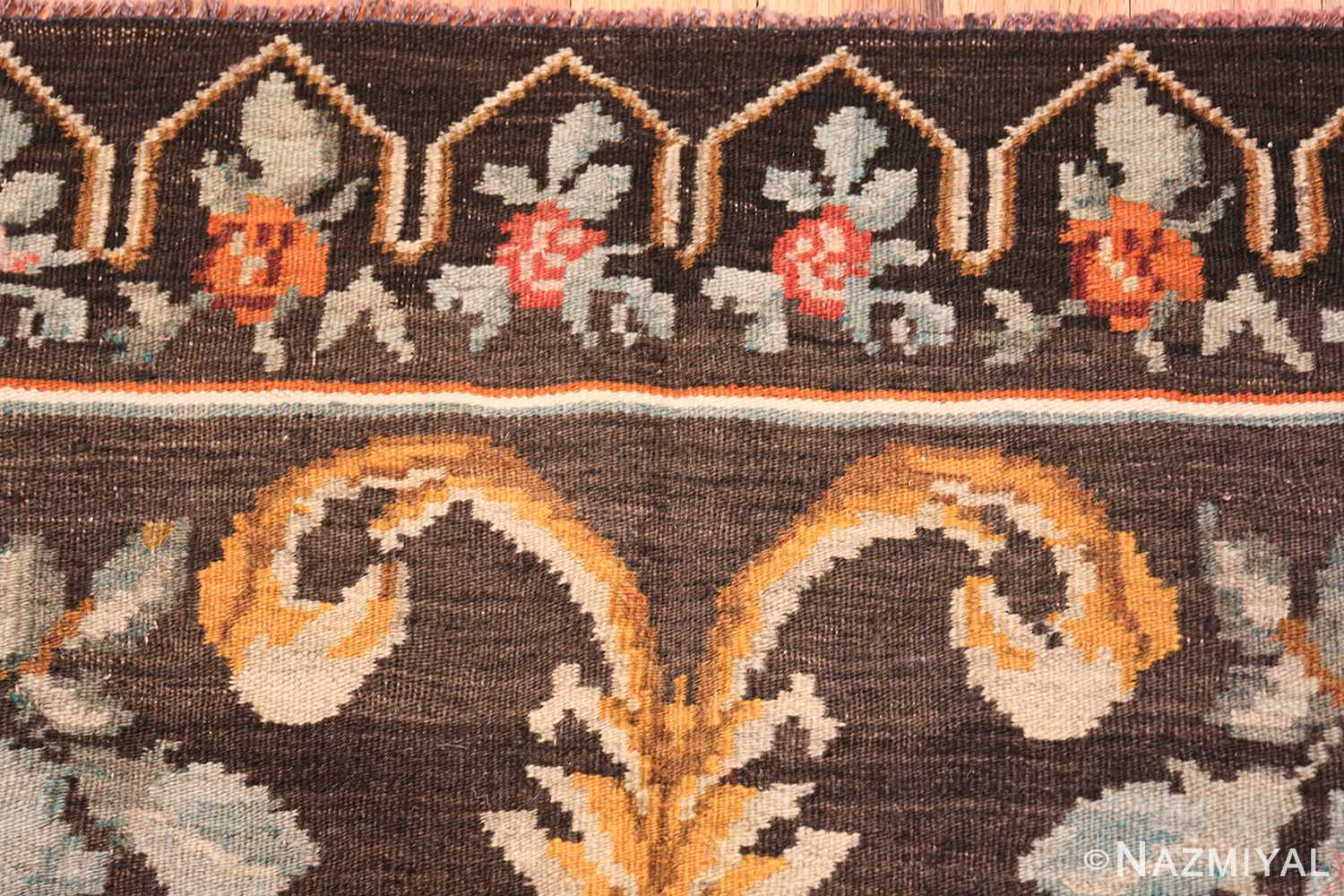 vintage turkish kilim rug 50517 border Nazmiyal