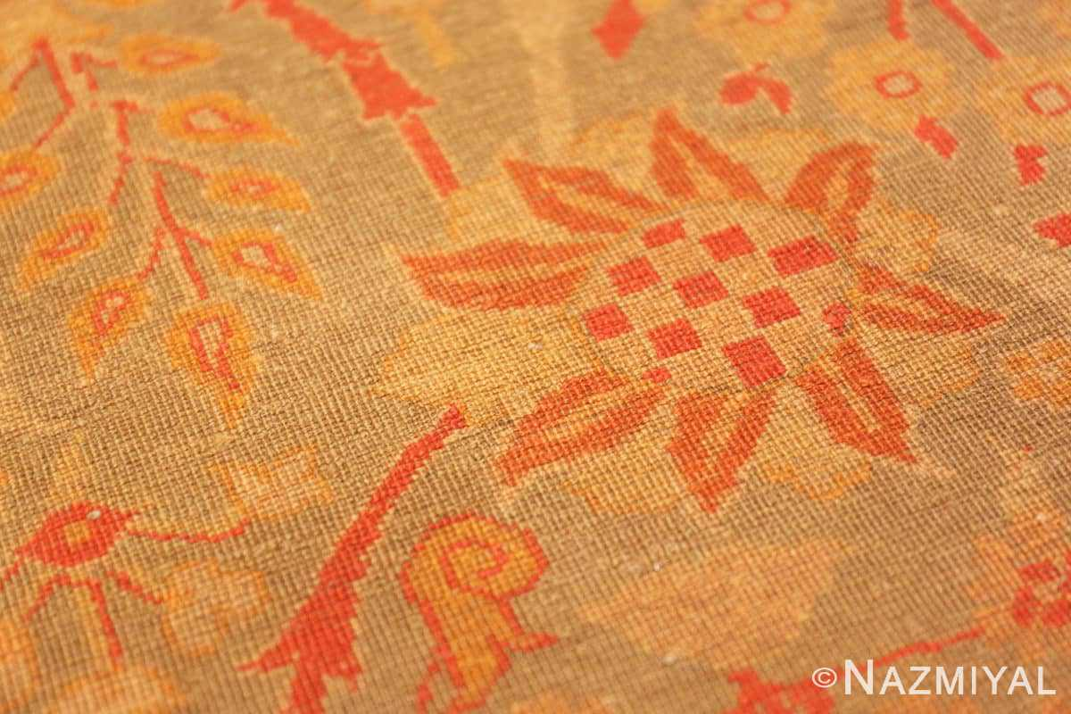 Weave detail Floral Antique Indian runner rug 50496 by Nazmiyal
