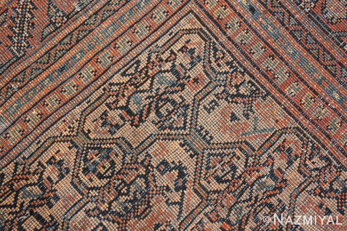 Weave detail gallery size antique Persian Farahan rug 50446 by Nazmiyal