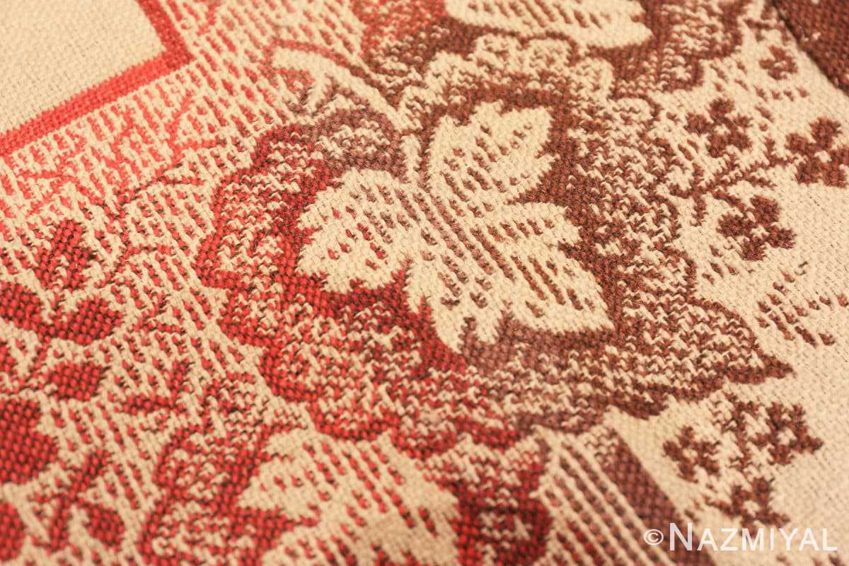 Weave detail large all over design antique American Ingrain rug 50460 by Nazmiyal
