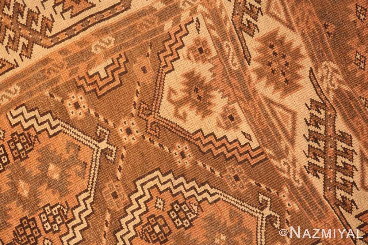 Weave detail long and narrow vintage tribal Afghan rug 50500 by Nazmiyal