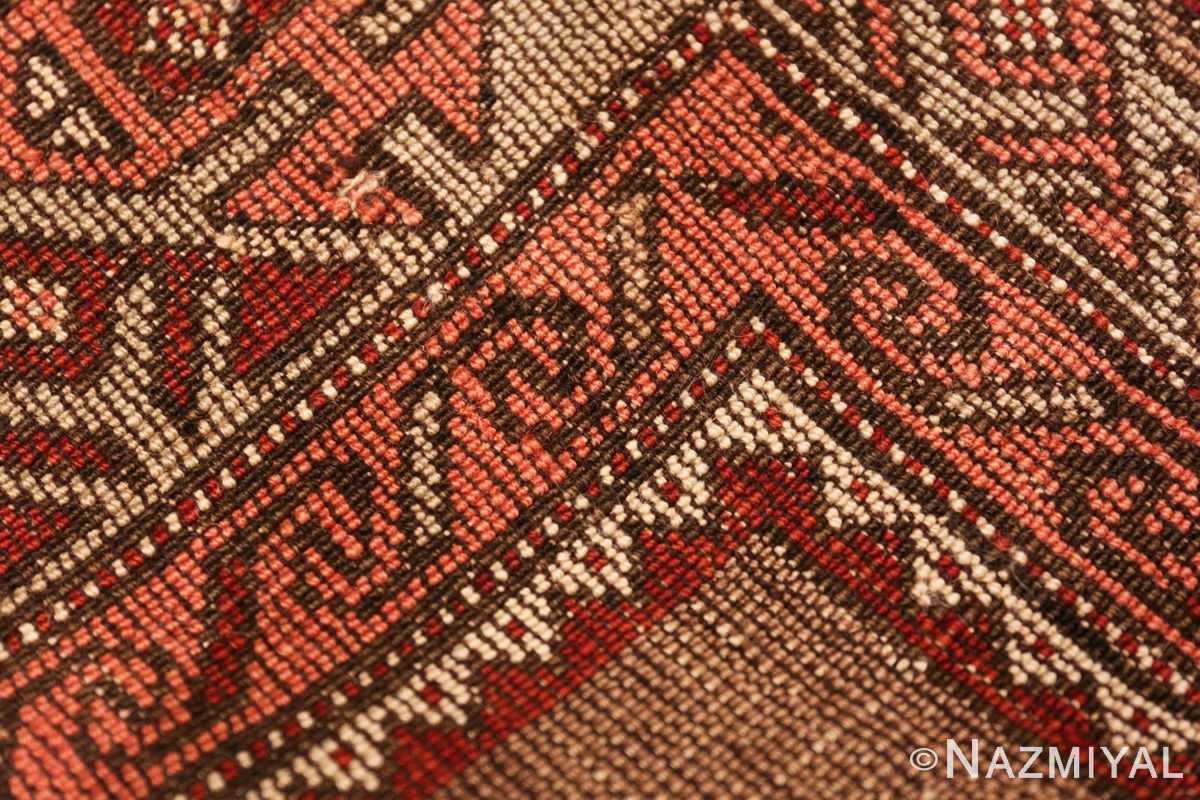 Weave detail Tribal Vintage Caucasian Kazak rug 50519 by Nazmiyal
