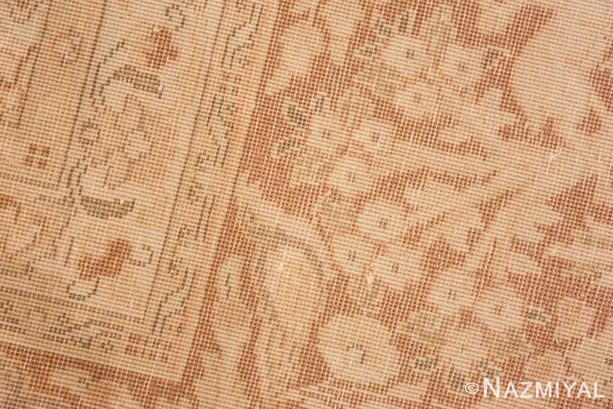 Weave detail Vintage Alabaster Persian Tabriz rug 50444 by Nazmiyal