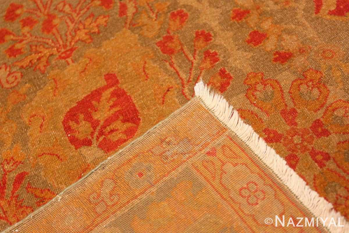 Weave Floral Antique Indian runner rug 50496 by Nazmiyal