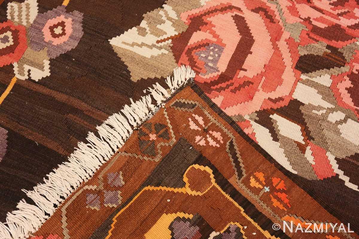 Weave floral vintage Turkish Kilim rug 50476 by Nazmiyal