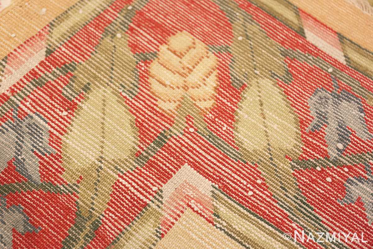 Weave zoom Antique French rug 50471 by Nazmiyal