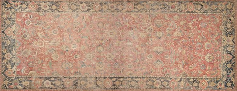 17th Century Esfahan Persian Rug 44143 by Nazmiyal