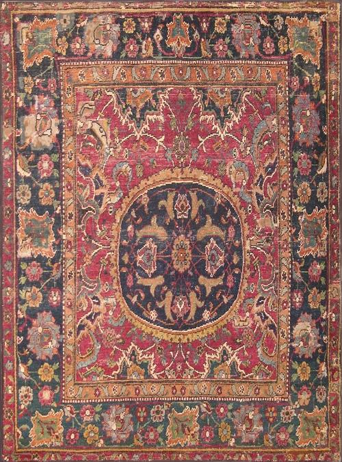 17th Century Persian Esfahan Rug 8034 by Nazmiyal