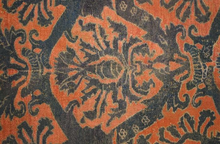 Antique 16th Century Alcaraz Rug Unidirectional Palmettes