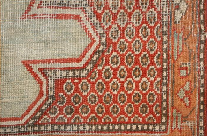 Antique 18th Century Silk Khotan Yarkand Prayer Saph Nazmiyal