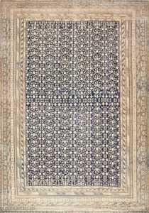 Oversized Antique Pomegranate Design Khotan Rug 50347 Nazmiyal