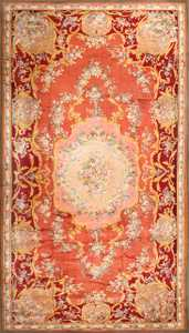 Oversized Antique French Savonnerie Rug 50561 Nazmiyal