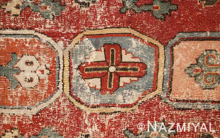 Antique Khorassan Persian Rug Center Cross Nazmiyal