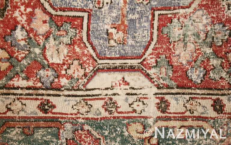Antique 17th Century Khorassan Persian Rug Detail Nazmiyal