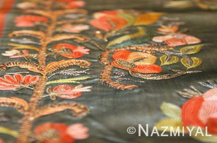 Antique Turkish Silk Ottoman Embroidery Border Nazmiyal