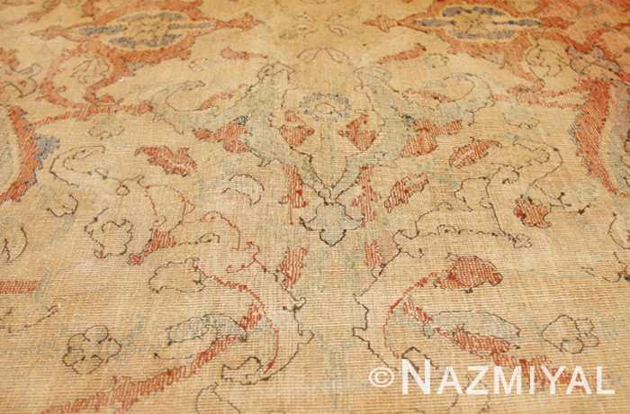 17th Century Antique Silk Polonaise Persian Rug Gold Ground