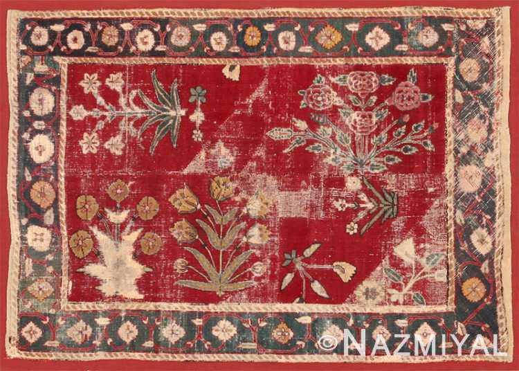 Antique 17th Century Mughal Rug  8036