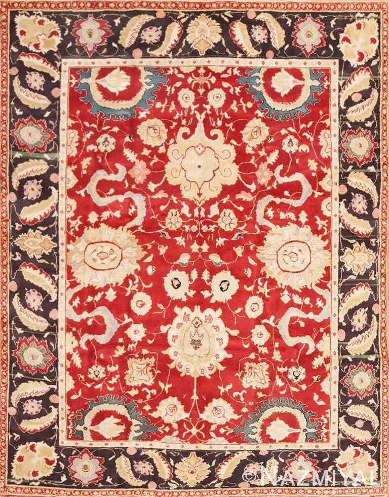 Antique Indian Agra Rug 48756 Detail/Large View