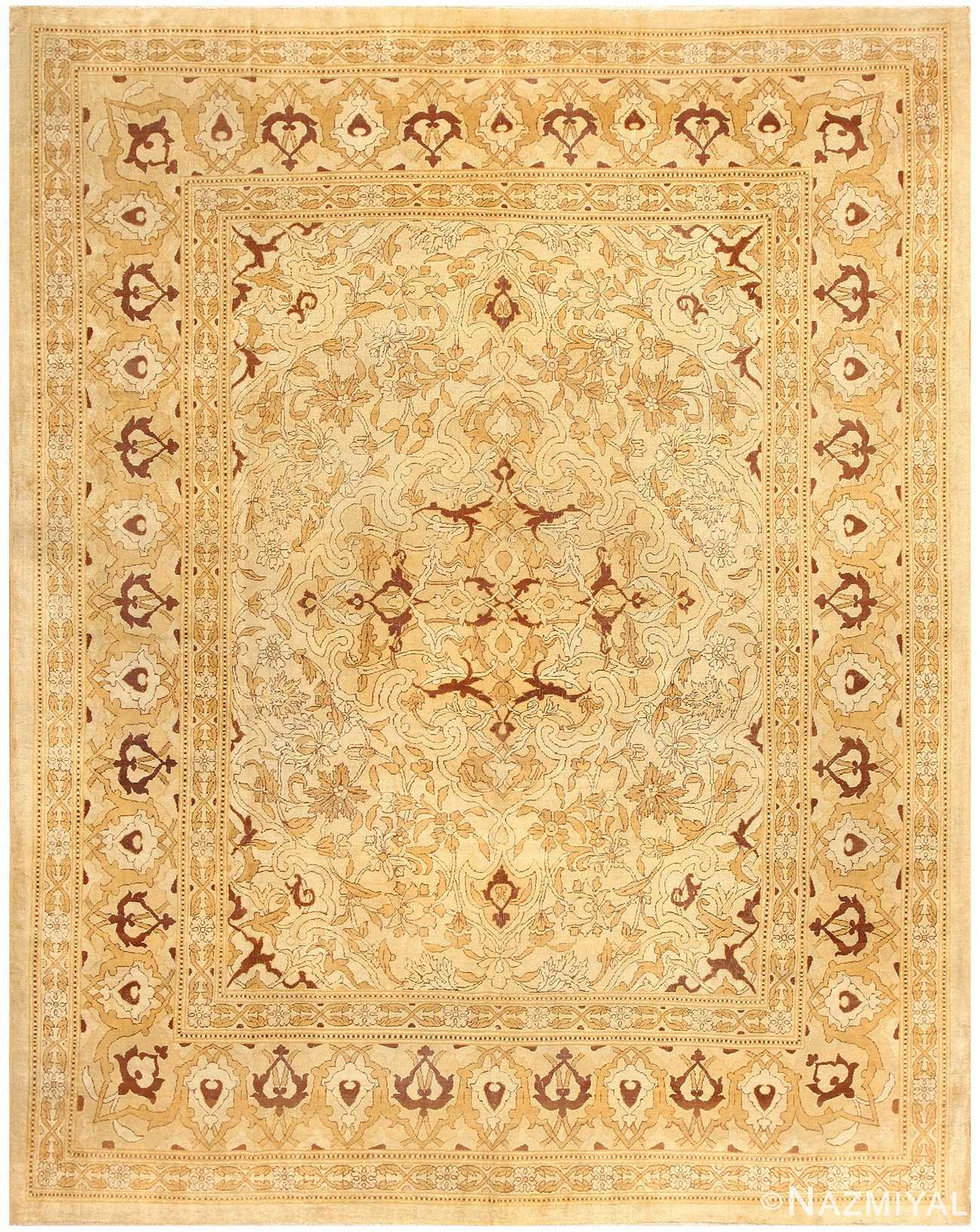 Antique Indian Amritsar Rug 50507 Detail/Large View