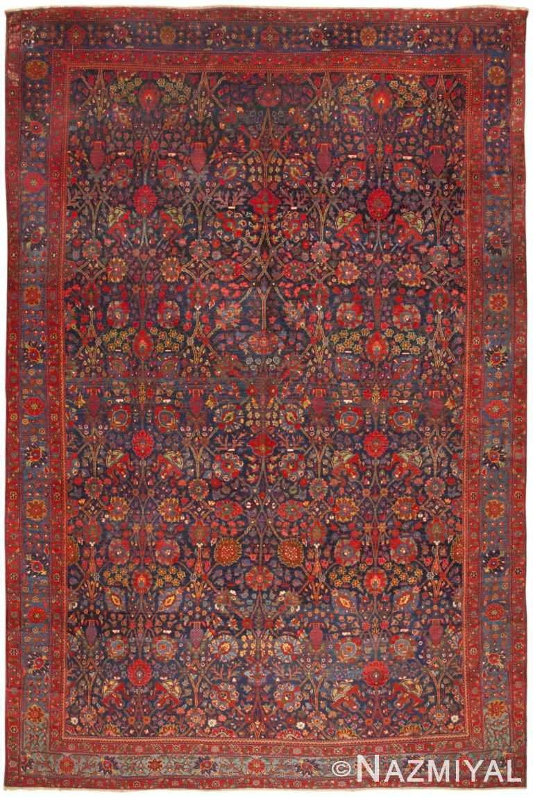 Antique Kurdish Bidjar Rug 46363 Detail/Large View
