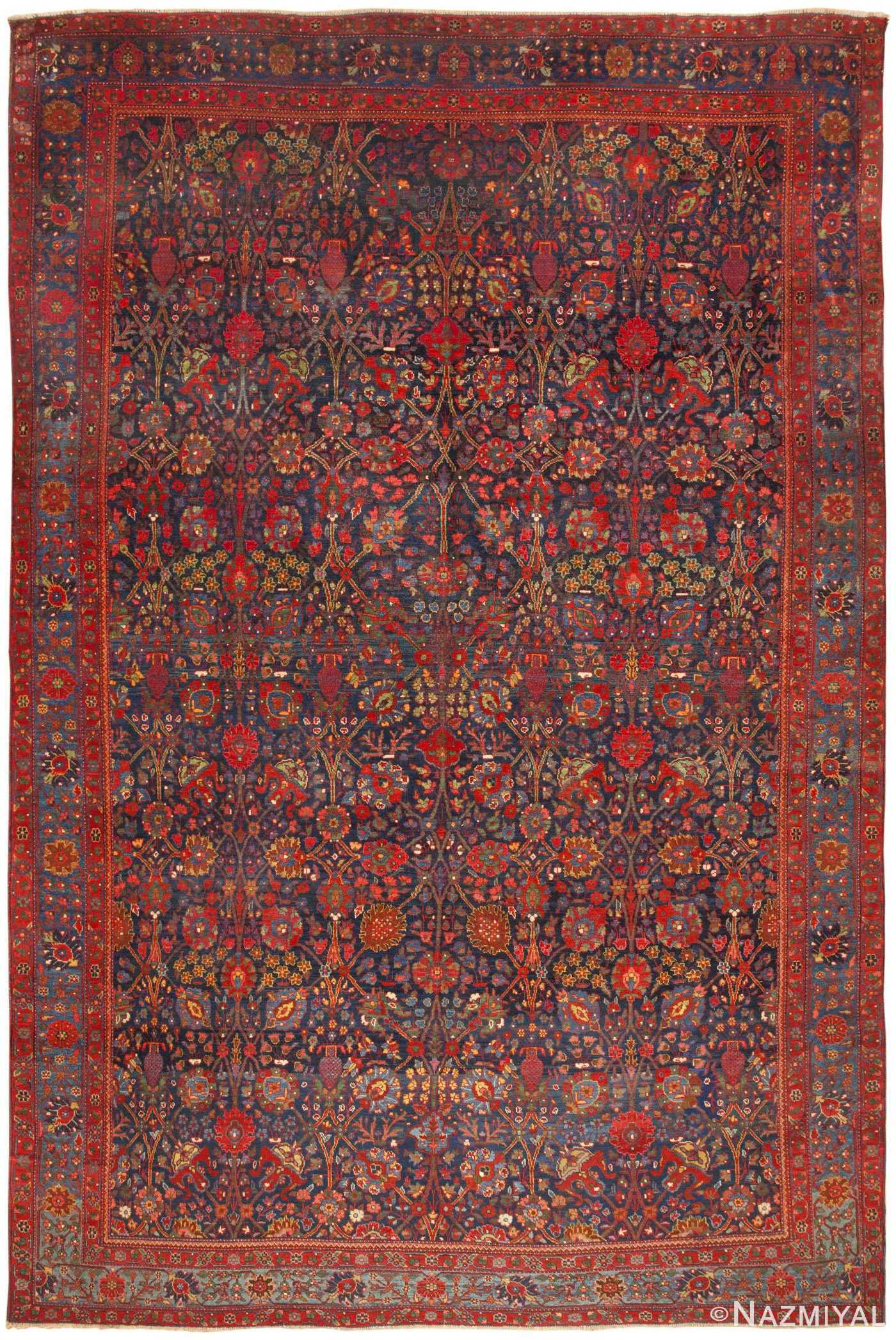 Antique Persian Kurdish Bidjar Rug 46363 By Nazmiyal