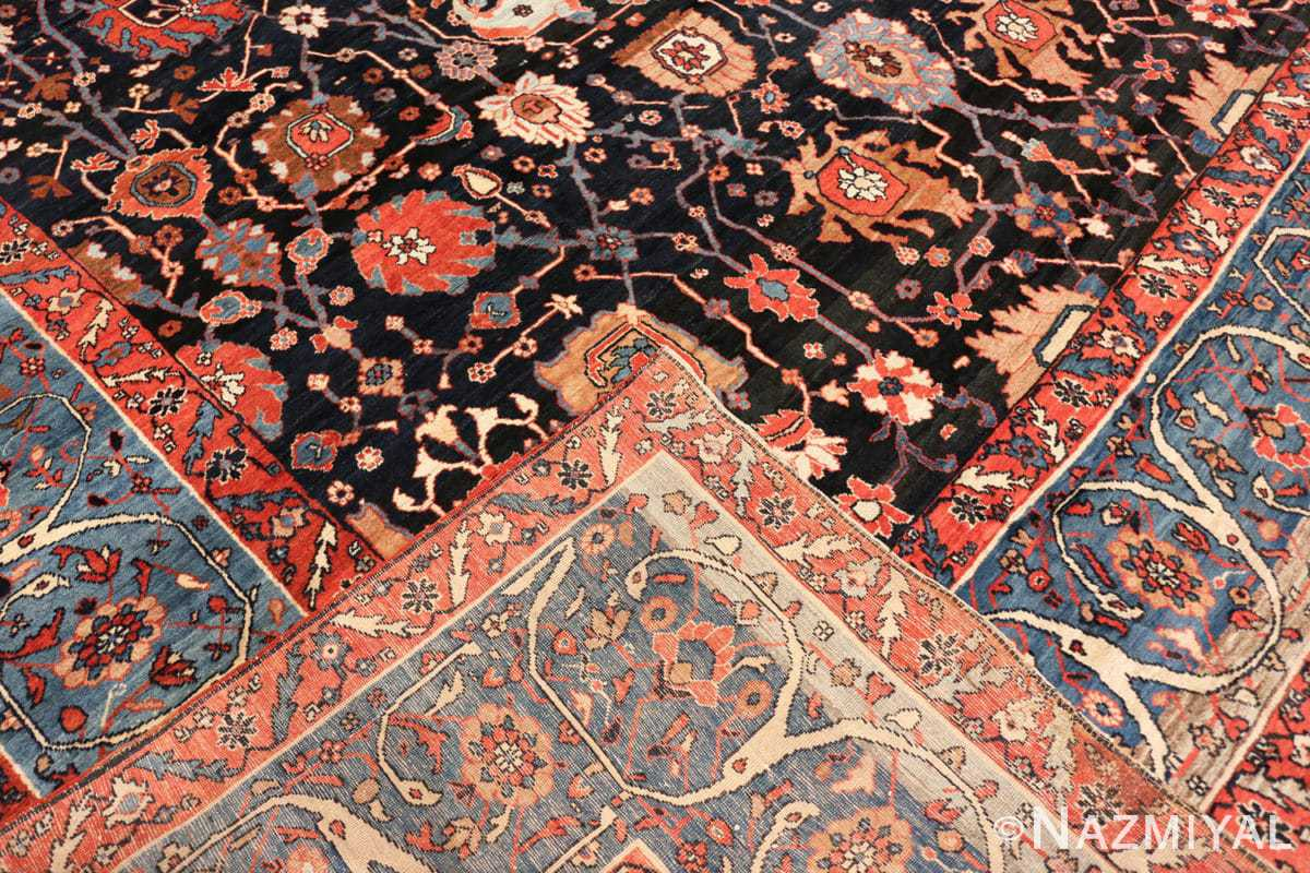 Back Antique Persian Bakshash rug 48720 by Nazmiyal