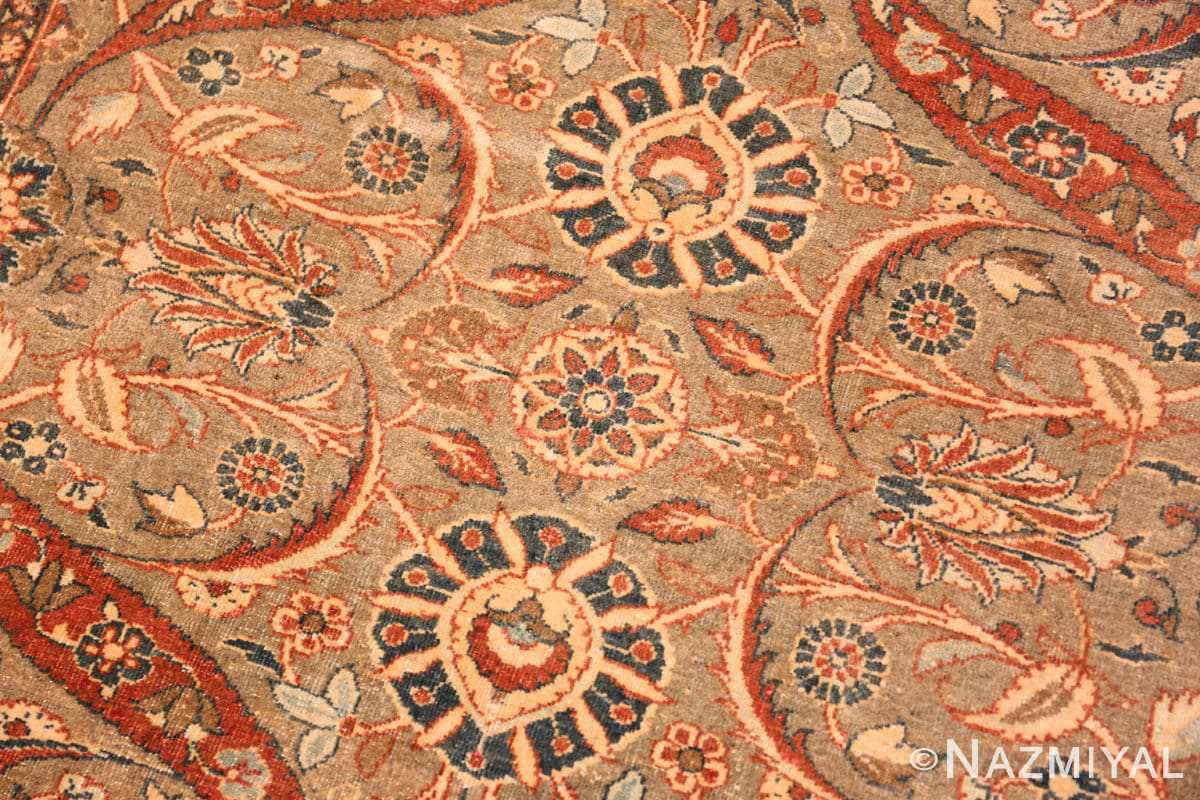 Background Antique Persian Tabriz rug 50253 by Nazmiyal