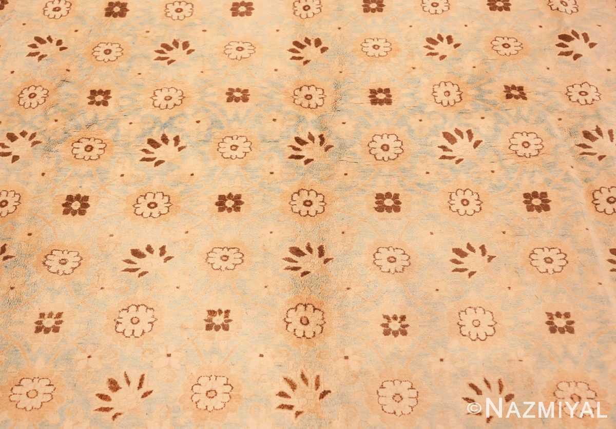Background Light blue Antique Persian Tabriz rug 47779 by Nazmiyal