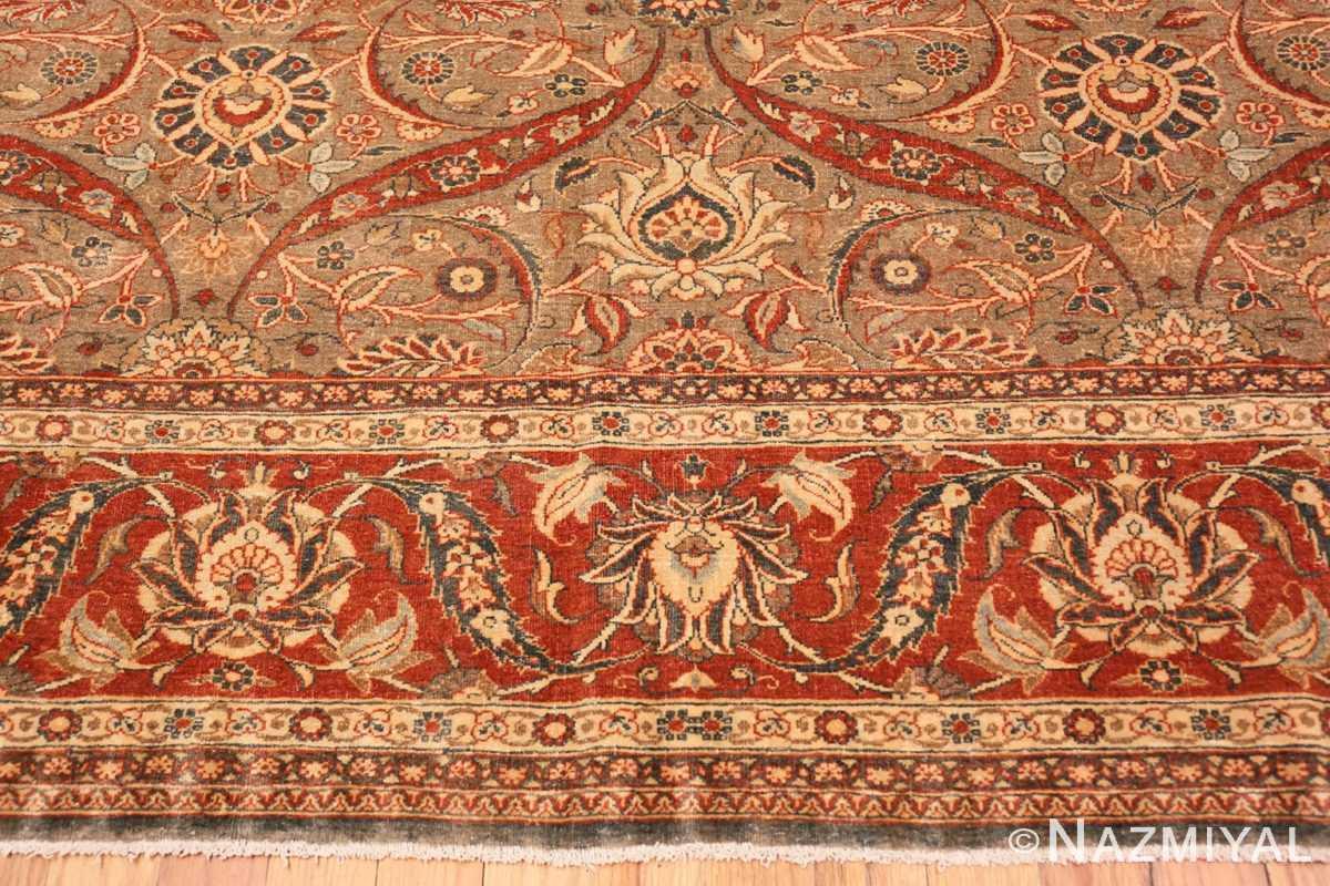 Border Antique Persian Tabriz rug 50253 by Nazmiyal