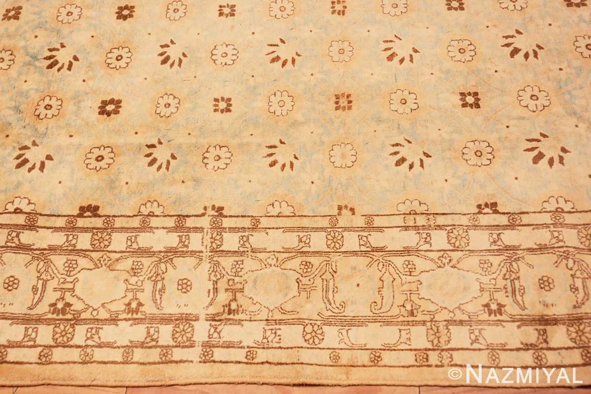 Border Light blue Antique Persian Tabriz rug 47779 by Nazmiyal