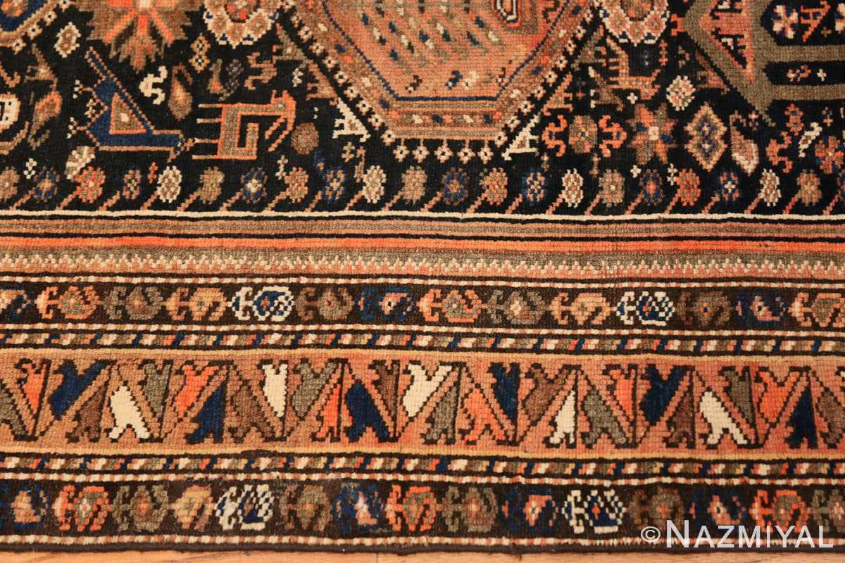 Border Vintage Persian qashqai rug 50466 by Nazmiyal