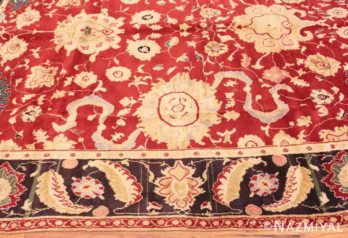 Border Red background Vintage Indian Agra rug 48756 by Nazmiyal